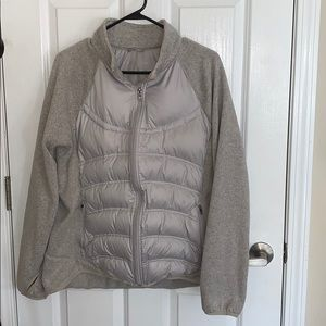 London Fog Puffer Jacket with Knit Sleeves